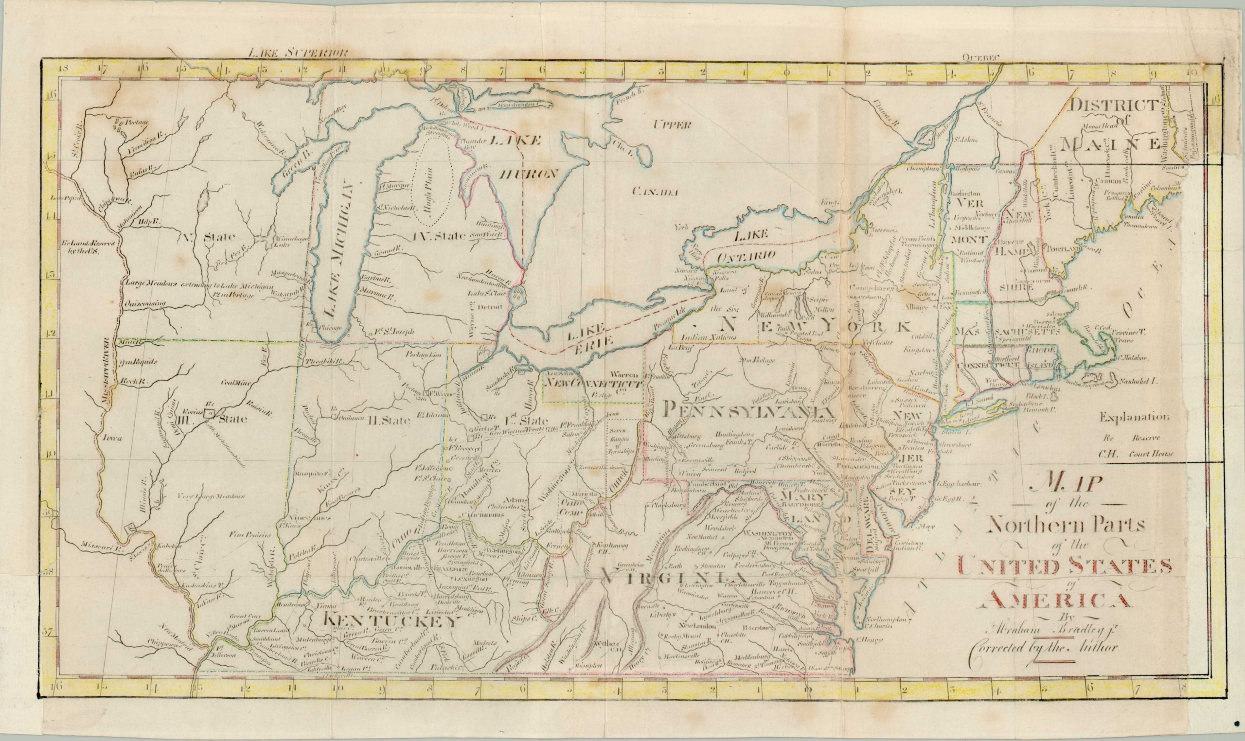 Image of: Map Of Northern Parts Of The United States Of America Curtis Wright Maps