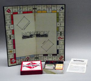 Text Box: Monopoly game board c. 1941, issued by Waddington Ltd.