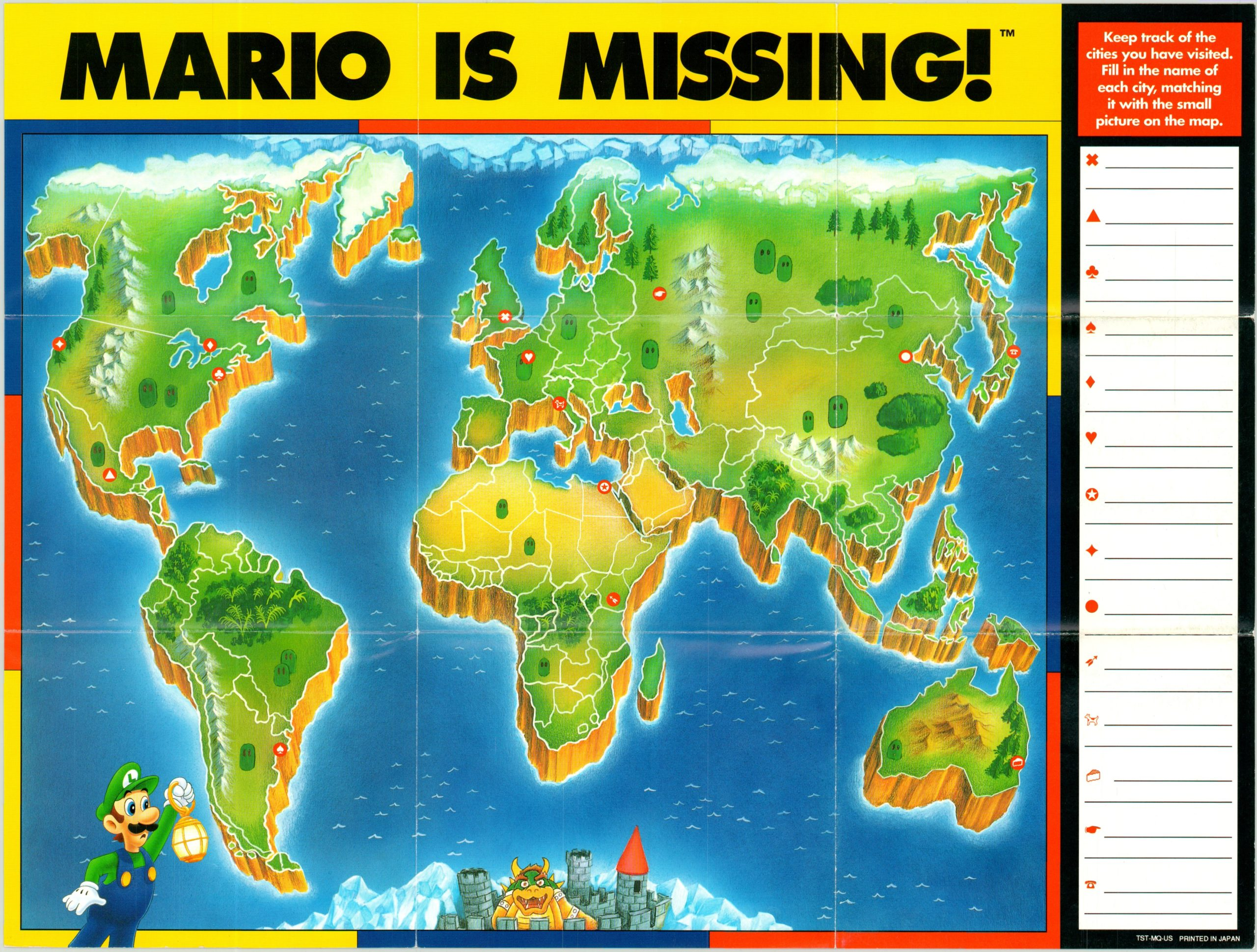 Mario Is Missing Curtis Wright Maps