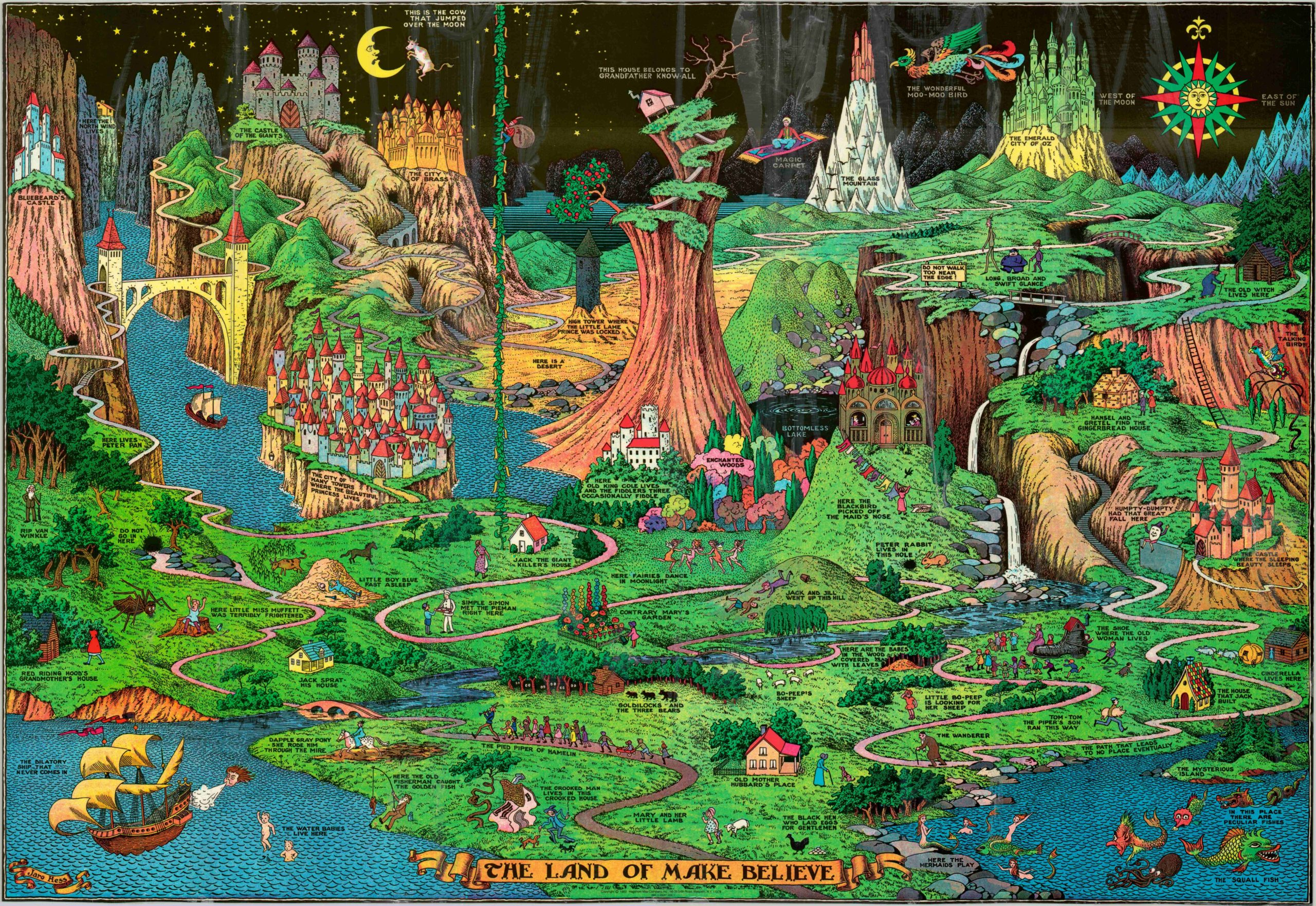 The Land Of Make Believe Curtis Wright Maps