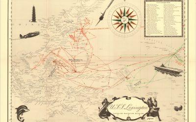 The Tracks of the U.S.S. Lexington