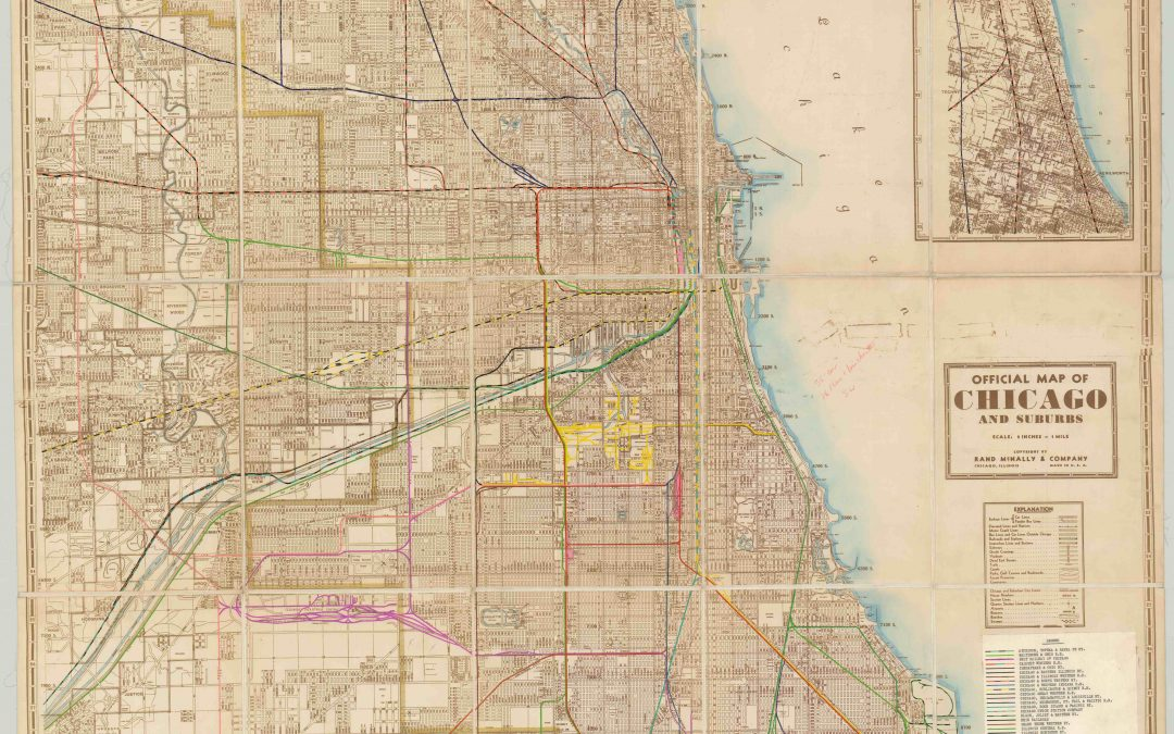Official Map of Chicago and Suburbs